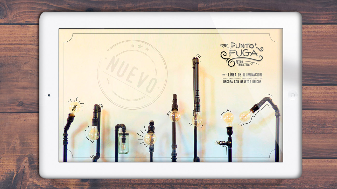 Estilo Industrial • Nuestra línea de iluminación decorativa